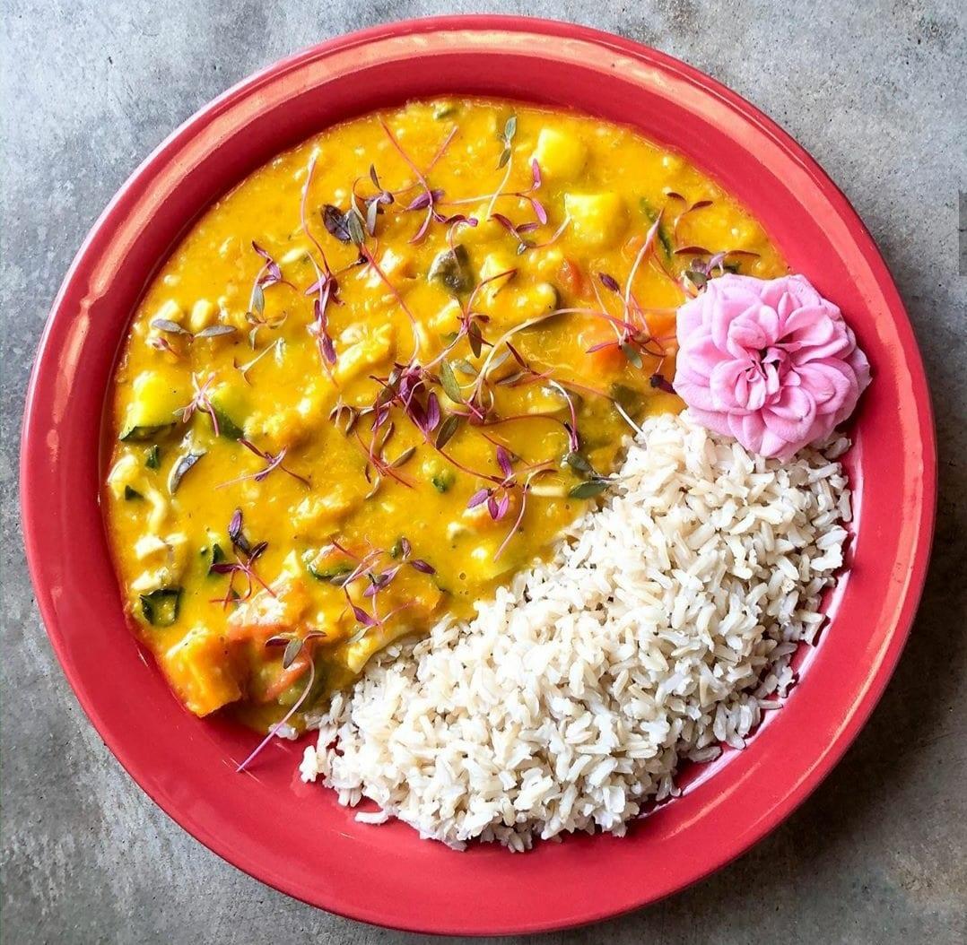 Um dos pratos vegetarianos ou veganos para deliverys em Goiânia