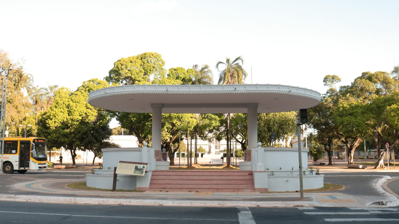 Coreto da Praça Cívica, no Centro de Goiânia