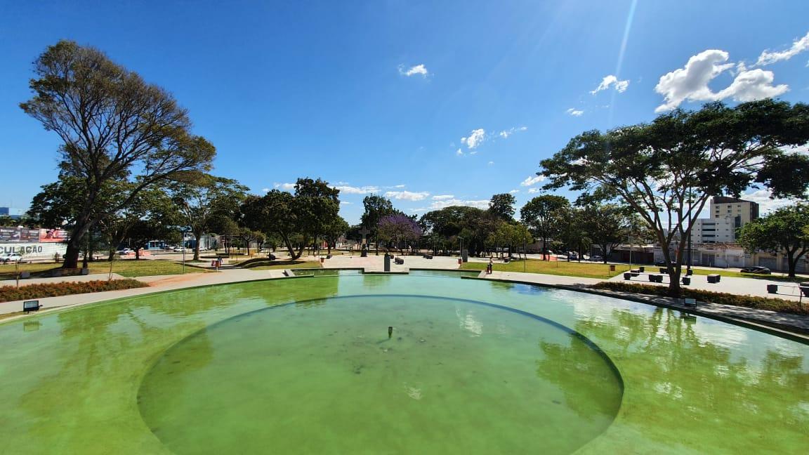 Praça do Cruzeiro teve obra de revitalização entrege em julho de 2020
