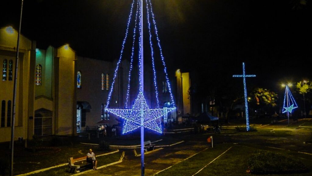 Cruzeiro e estrelas da Praça da Matriz de Campinas