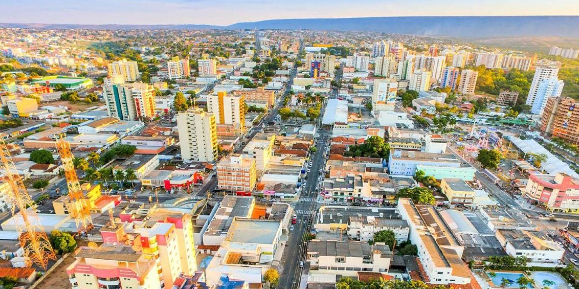 Vista aérea da cidade de Caldas Novas