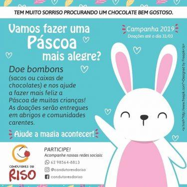 Grupo arrecada chocolates para Páscoa de crianças carentes em Goiânia