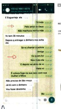 Homem se confunde no Whatsapp ao denunciar falso sequestro da mãe e é preso, em Trindade