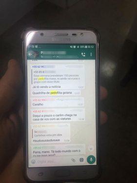 Em grupo de WhatsApp, suspeitos de pedofilia em Goiás falavam sobre medo de ser presos