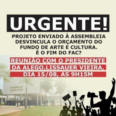 Governo de Goiás publica nota desmentindo desvinculação do Fundo Cultural da receita