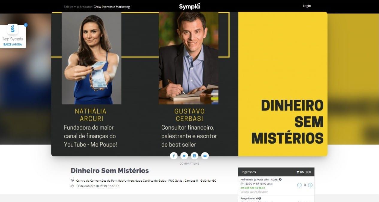 Palestra de Nathália Arcuri e Gustavo Cerbasi em Goiânia é fraude