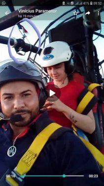 Peça de equipamento pode ter causado morte de casal que caiu de paramotor, em Caldas Novas
