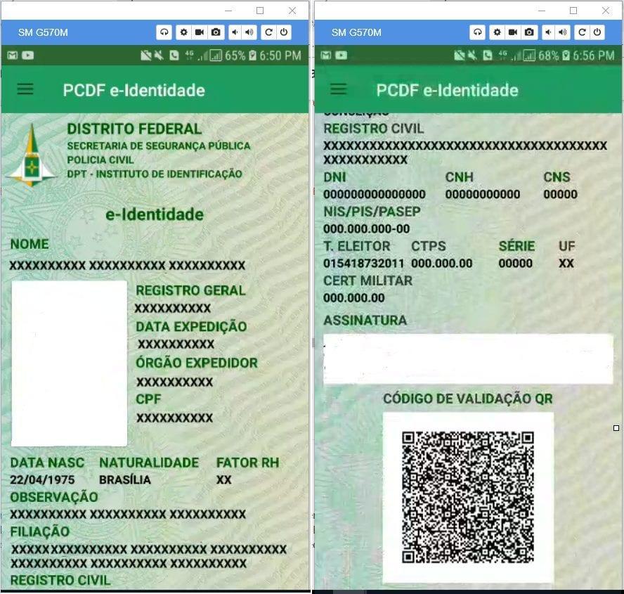 RG digital está disponível no Distrito Federal e é válido em todo o país