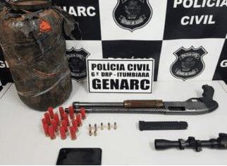 Idoso é preso com arma, munição e drogas em Itumbiara