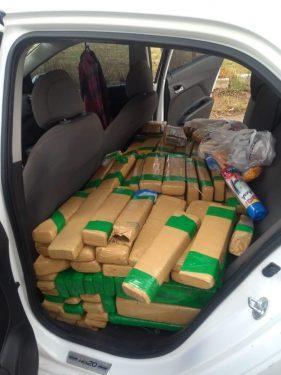 Dupla é presa com meia tonelada de maconha, em Goiânia