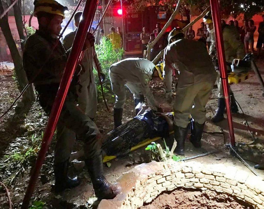 Mulher cai em cisterna de 15 metros de profundidade, em Trindade
