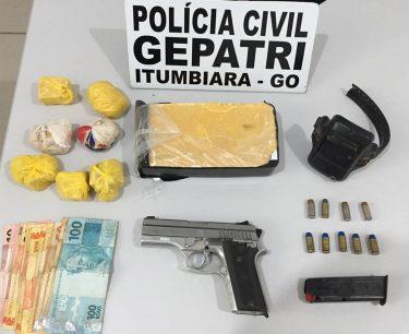 Preso do semiaberto rompe tornozeleira e é flagrado com drogas avaliadas em quase R$ 20 mil