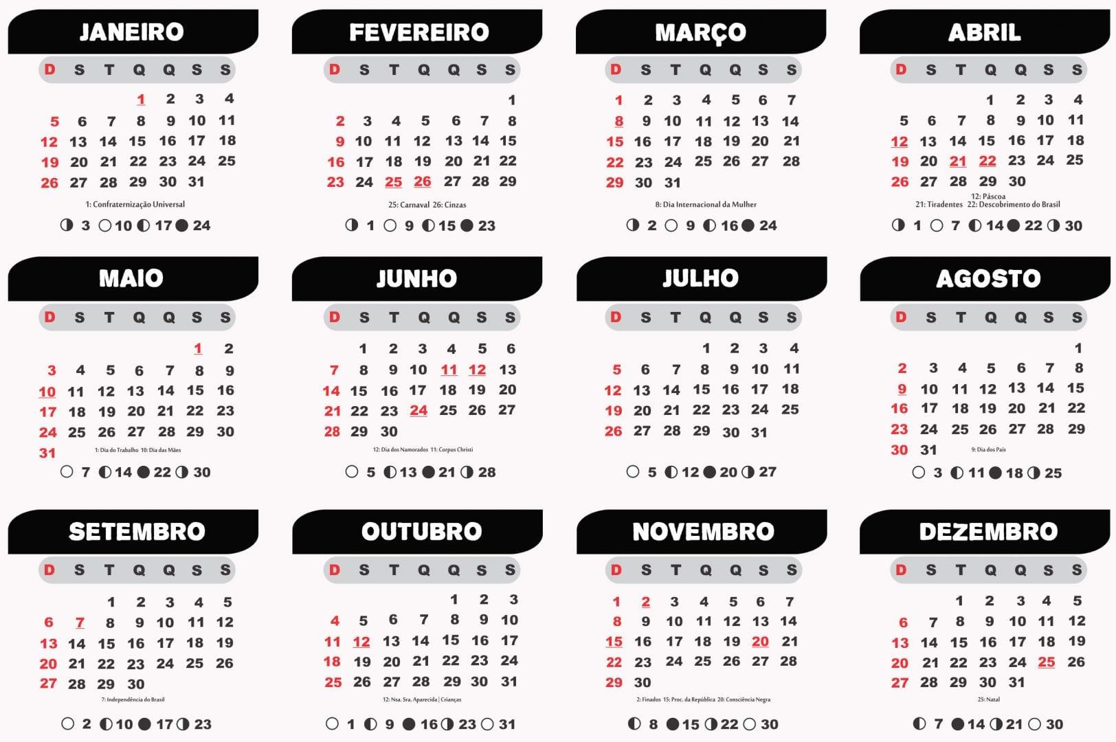 feriados 2020 Goiânia