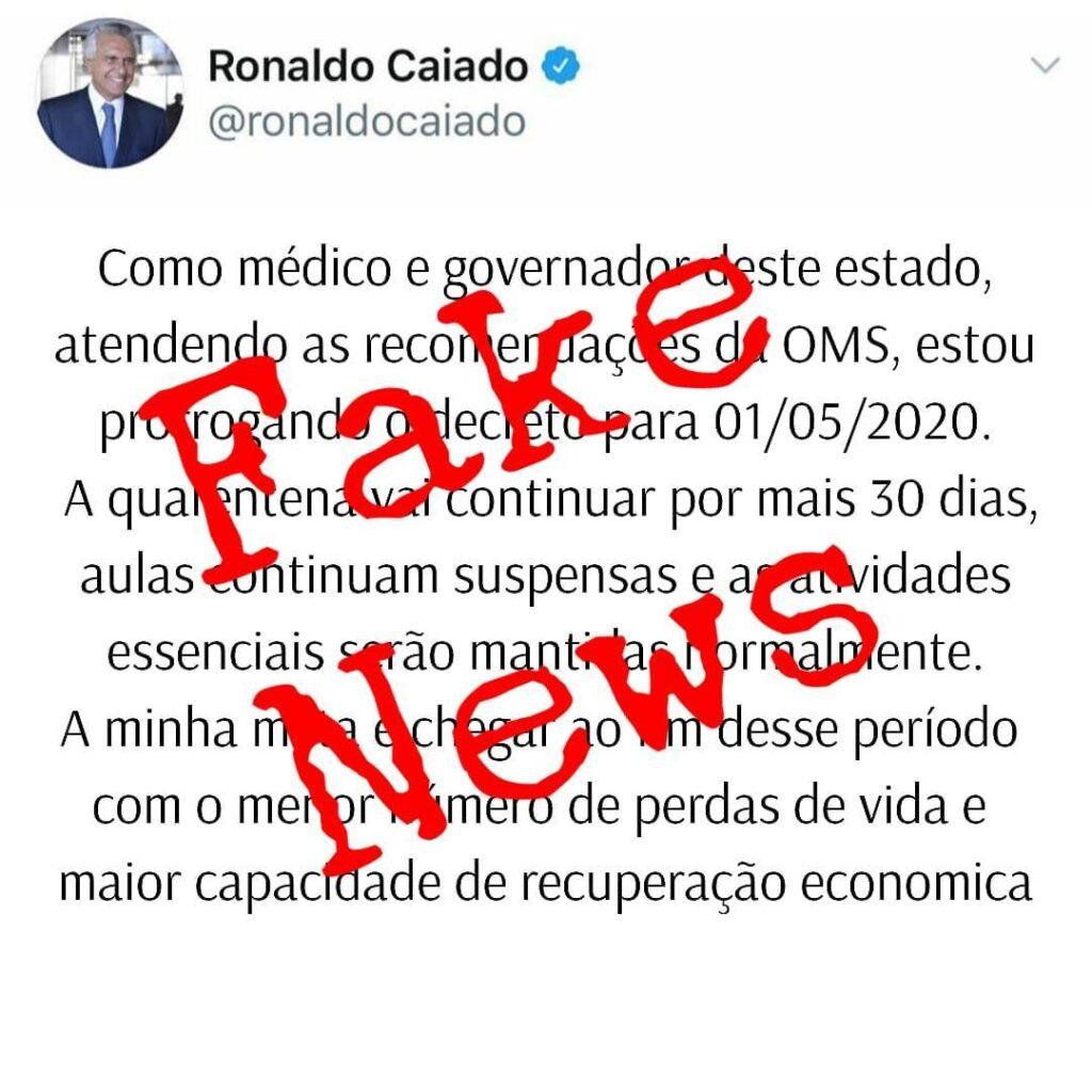 Governo de Goiás se manifesta sobre suposta prorrogação de quarentena